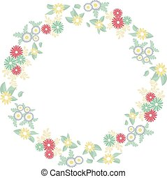 circle frame of flowers