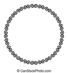 Circle frame with Celtic double spirals