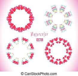 Circle frame with hearts