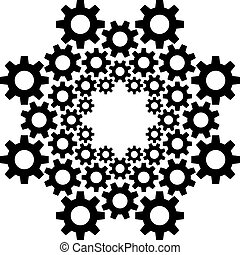 circle gear vector design template