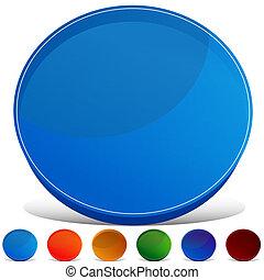 Circle Gemstone Button Set