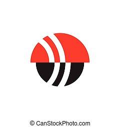circle geometric abstract logo vector