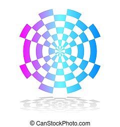 Circle geometric color design element.