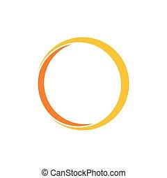 circle geometric ring 3d flat logo vector
