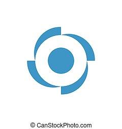 circle geometric rotation four arrow logo vector
