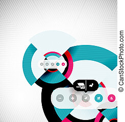 Circle geometric shapes flat interface design - Geometric...