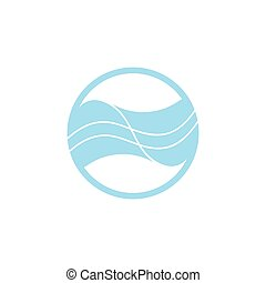 circle geometric stripes waves logo