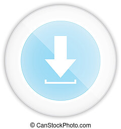 Circle Glossy Blue Download Web Icon vector