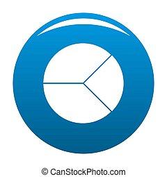 Circle graph icon blue