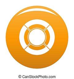 Circle graph icon orange