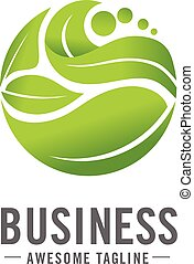 circle green leaf logo