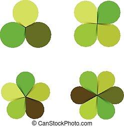 Circle green leaves nature ecology logo.