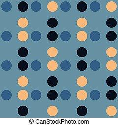 Circle grid geometric seamless pattern