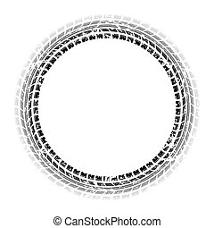 Circle grunge gradient tire track