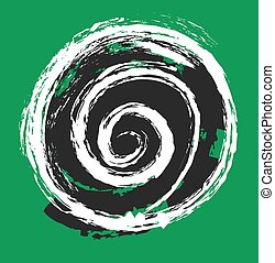 circle grunge paint brush, vector