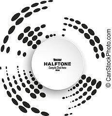 Circle halftone vector element for your design