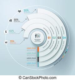 circle., handlowy, infographics