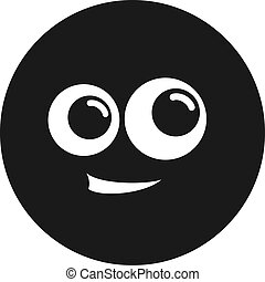 circle happy face icon