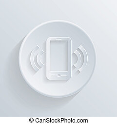 Ringing phone icon in circle  mobile call icon  Ringing