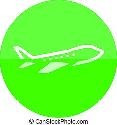 Circle icon - Airplane