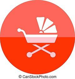 Circle icon - Baby stroller