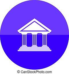 Circle icon - Bank building
