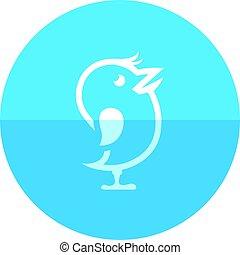 Circle icon - Bird