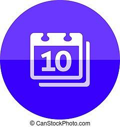 Circle icon - Calendar