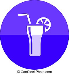 Circle icon - Cocktail drink