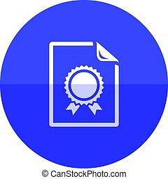 Circle icon - Contract document