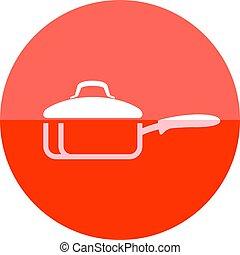 Circle icon - Cooking pan
