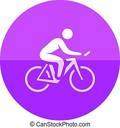 Circle icon - Cycling