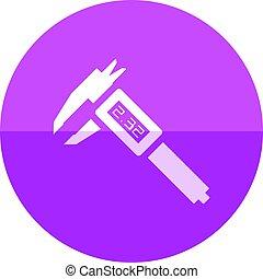 Circle icon - Digital caliper - Digital caliper icon in flat...