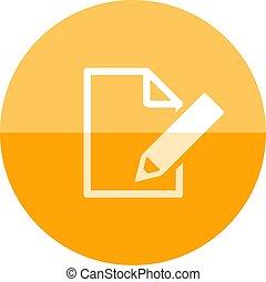 Circle icon - Document edit
