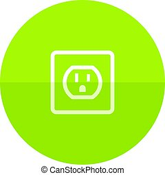 Circle icon - Electrical outlet