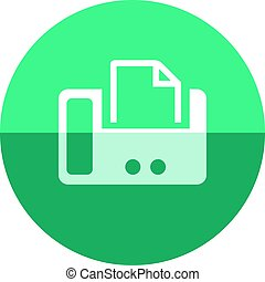 Circle icon - Facsimile - Facsimile icon in flat color...