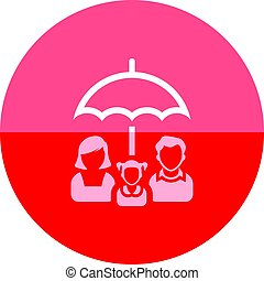Circle icon - Family umbrella
