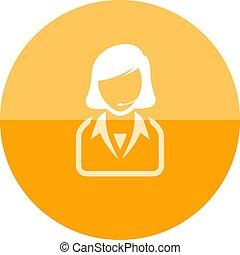 Circle icon - Female receptionist