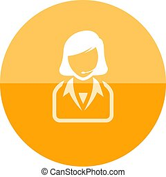 Circle icon - Female receptionist