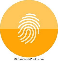 Circle icon - Fingerprint