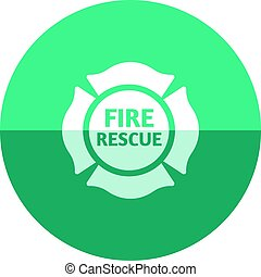 Circle icon - Firefighter emblem