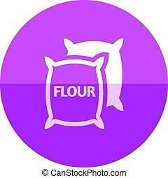 Circle icon - Flour sack