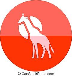 Circle icon - Giraffe