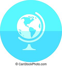Circle icon - Globe