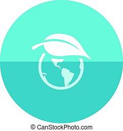 Circle icon - Globe leaf