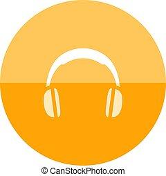 Circle icon - Headset