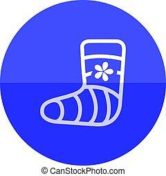 Circle icon - Injured foot