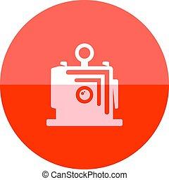 Circle icon - Large format camera