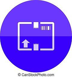 Circle icon - Logistic box