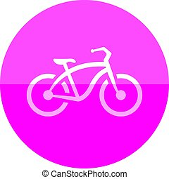 Circle icon - Low rider bicycle - Low rider bicycle icon in ...